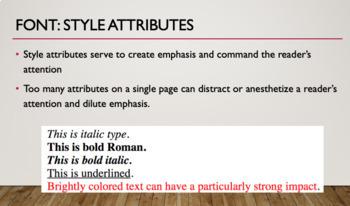 Elements of Design: Typography