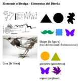 Elements of Design vocabulary in Spanish