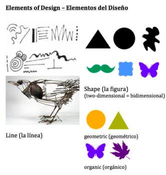 Fabulous Elements Of Design Vocabulary In Spanish Download Free Architecture Designs Fluibritishbridgeorg