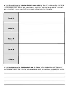 Elements of Drama Analysis Activity