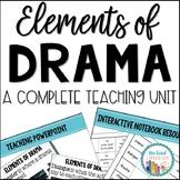 Elements of Drama Unit Grades 3-5 CCSS Aligned
