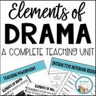 Elements of Drama Unit Grades 3 - 5 Common Core & TEKS Aligned