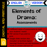 Elements of Drama: Assessments ENGLISH VERSION