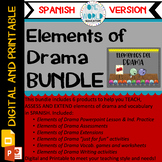 Elements of Drama: BUNDLE Digital and Printable (Spanish Version)