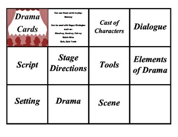 Elements of Drama Cards