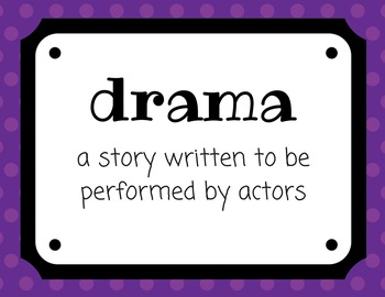 Elements of Drama 23 POSTER SET