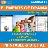 Elements of Drama Practice Worksheets - Labeling and Acting Out Plays