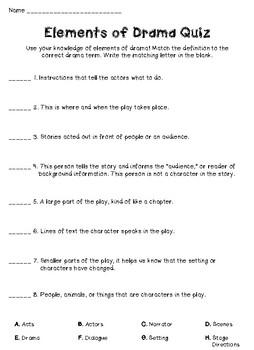 Elements of Drama Quiz