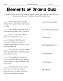 Elements of Drama Student Quiz