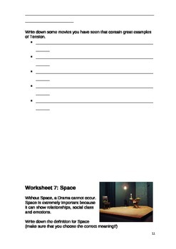 Elements of Drama Student Workbook