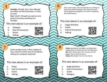 Drama Task Cards With QR Codes Part Two
