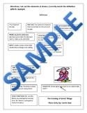 Elements of Drama Vocabulary Matching Activity