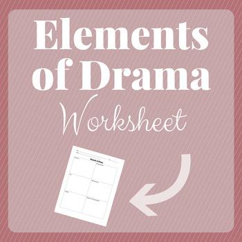 Elements Of Drama Worksheet | Teachers Pay Teachers