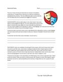 Elements of Drama -- Worksheet