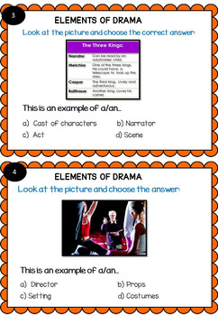 Elements of Drama: posters and scavenger hunt