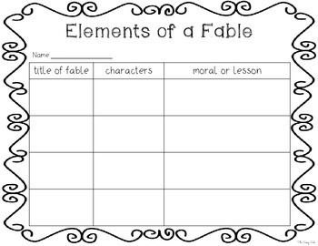 *FREEBIE* Elements of a Fable: 2 Graphic Organizers