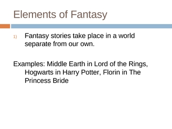Elements of Fantasy in Literature