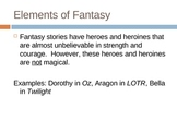 Elements of Fantasy PowerPoint