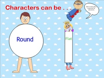 Elements of Fiction Character SMART Board Lessons