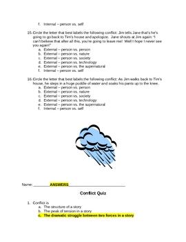 Elements of Fiction: Conflict Quiz