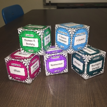 Elements of Fiction Cubes and Plot Diagram Activity