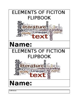 Elements of Fiction Flipbook