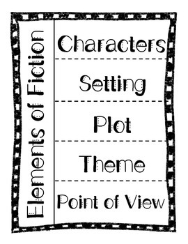 Elements of Fiction Foldable