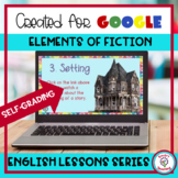 Elements of Fiction Google Form Digital Resource for Dista