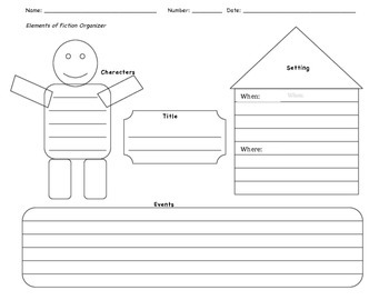 Elements of Fiction Graphic Organizer