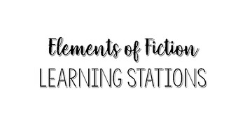 Elements of Fiction Learning Stations