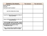 Elements of Fiction Matching Activity Pt. 2