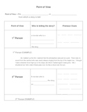 Elements of Fiction: Point of View Guided Notes Sheet Basic