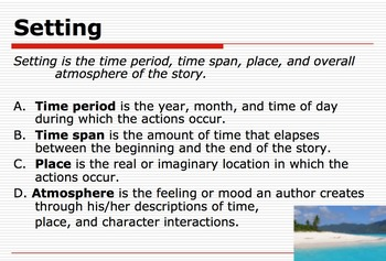 Elements of Fiction Powerpoint and Notes