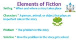 Elements of Fiction Powerpoint Slide