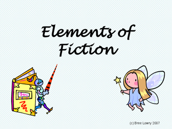 Elements of Fiction Presentation (with Fill-in-the-Blank Notes Pages)