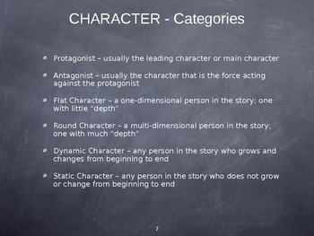 Elements of Fiction Presentation