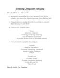 Elements of Fiction: Setting Cinquain Activity
