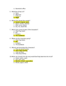 Elements of Fiction: Setting Quiz
