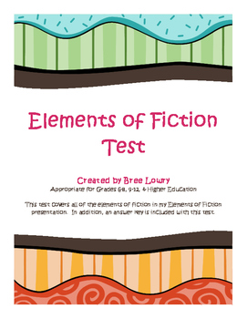 Elements of Fiction Test