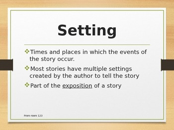 Elements of Fiction Vocabulary Powerpoint