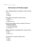 Elements of Fiction and Drama Quiz