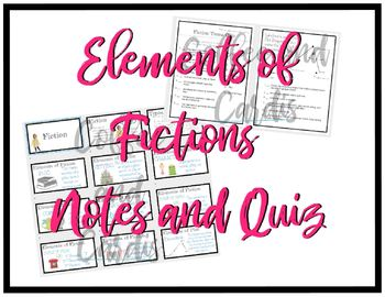 Elements of Fiction and Plot Notes by Coffee and Cardis | TpT