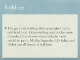 Elements of Folklore