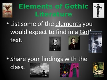 the elements of gothic literature