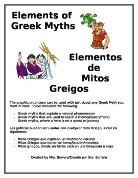 Elements of Greek Myths - Elementos de Mitos Griegos