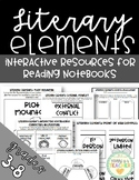 Literary Elements: Foldables for Reading Interactive Notebooks (Grades 3-8)