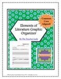 Elements of Literature Graphic Organizer - Common Core Aligned!
