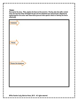 Elements of Literature Graphic Organizer - Common Core Aligned!