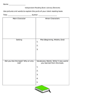 Elements of Literature Graphic Organizer for ELLs