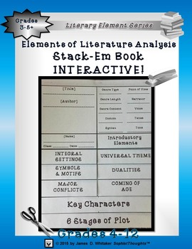 Elements of Literature Interactive Analysis Stack-Em